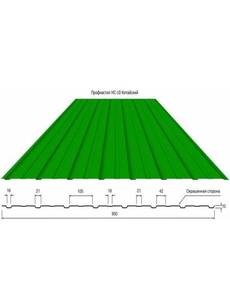 Профнастил цветной (ширина 0,95 см, рабочая 0,92 см)
